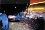 BNSF 1006 hits car.