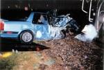 BNSF 1006 hits car