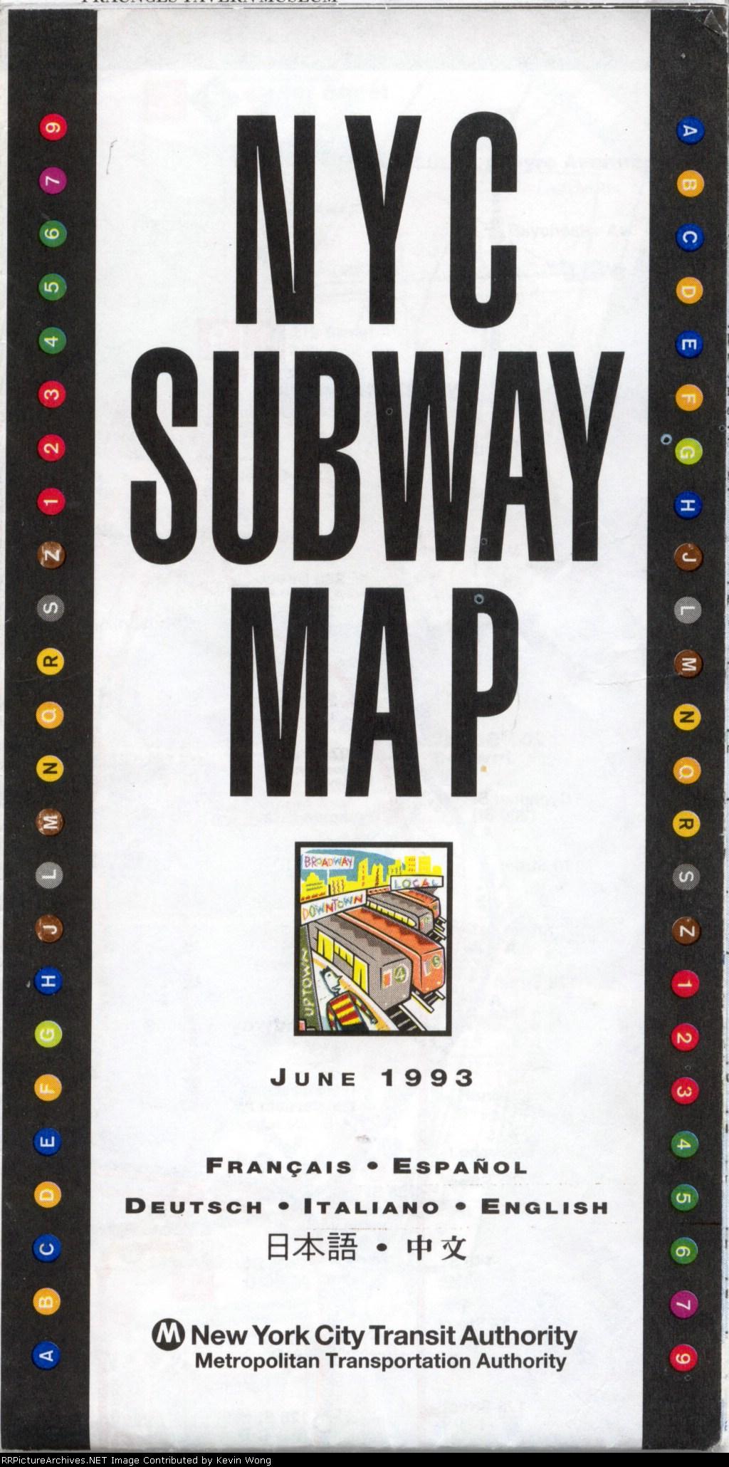 June 1993 NYC Subway Map