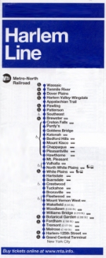 Harlem Line timetable
