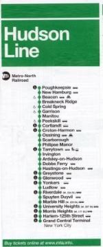 Hudson Line timetable