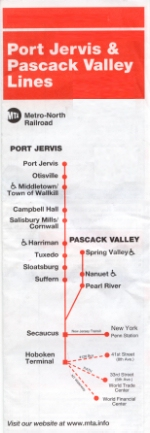 Port Jervis/Pascack Valley timetables