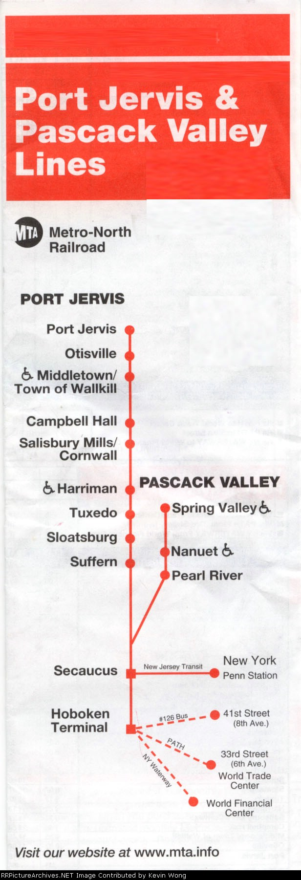 Port Jervis/Pascack Valley timetables