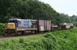 CSX 5864 solo with a work train coming from the P&A