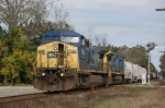 CSX 7834 heads south into yard