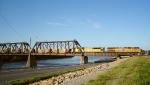Crossing a very high Kansas River