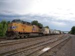 Tied Down UP Locomotive