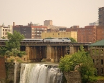 Amtrak over High Falls