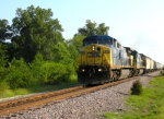 CSX 7889 has a grain train north