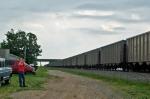 Bub railfanning