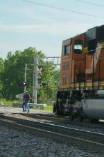 Don't walk across the tracks!!
