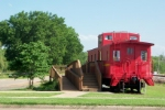 Caboose on display