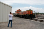 My brother with BNSF 3958 and BNSF 3836