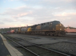 CSX Q115 is preparing to make a pick-up in Worcester intermodel yard.