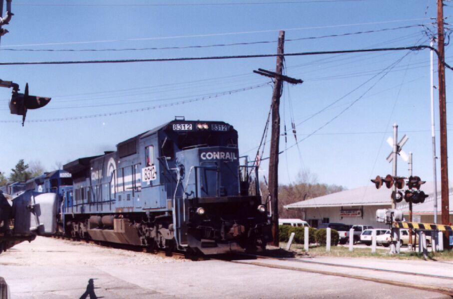 NS 8312 leads a coal train