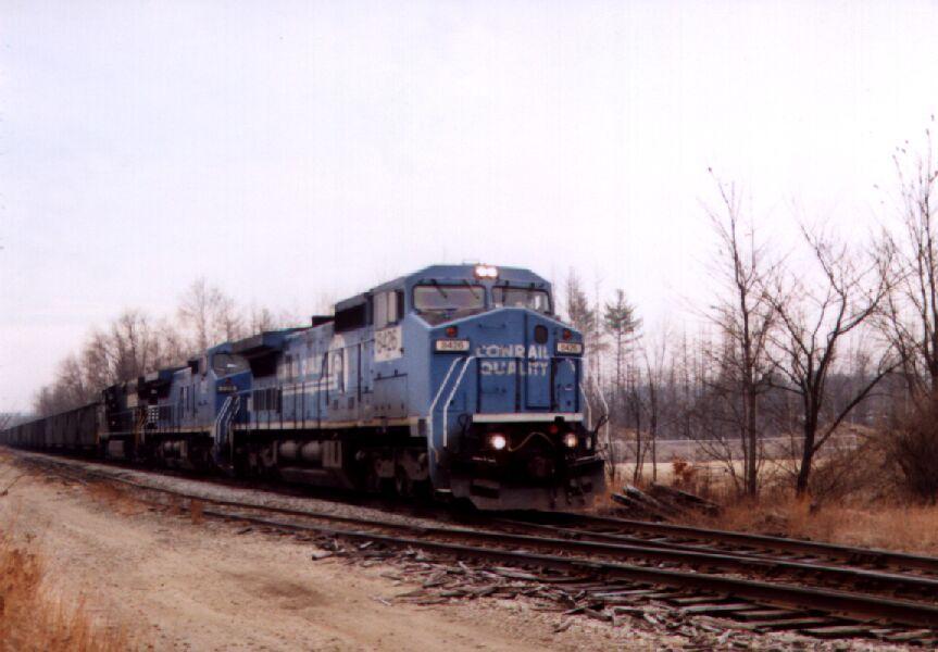 NS 8426 leads a coal train