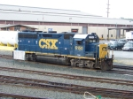 GP38-2S number 6150 gets a bath, and NOT from CSX mind you