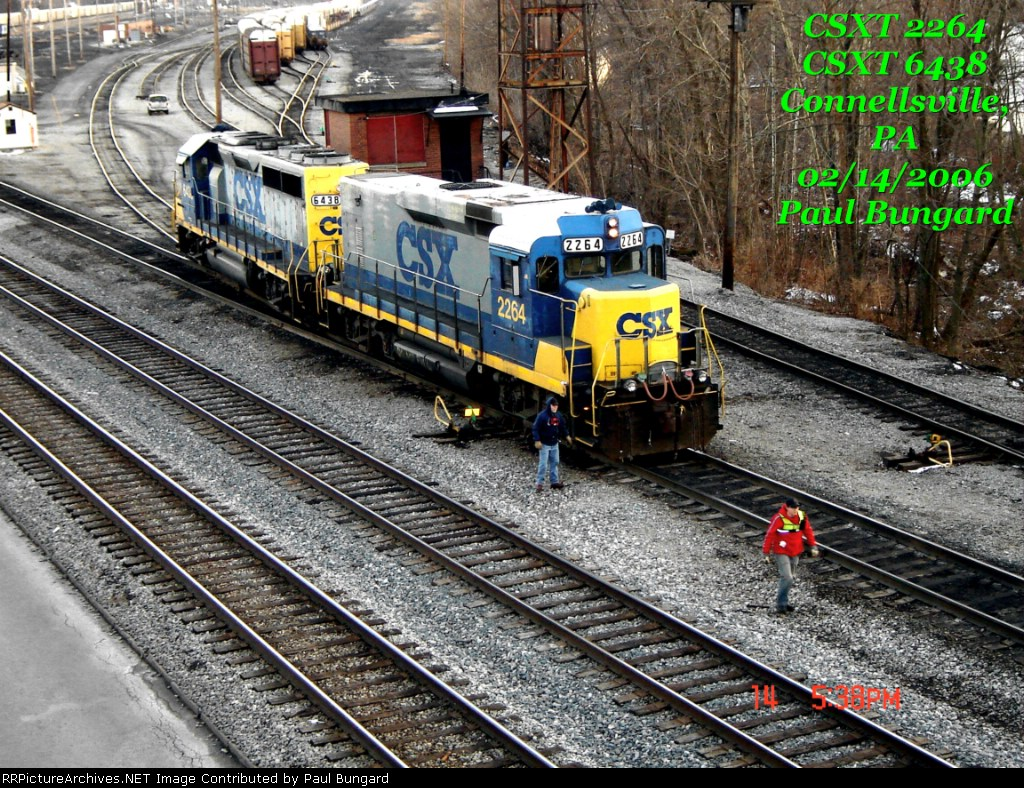 CSXT 2264   Road Slug     CSXT 6438  GP40-2  02/14/2006