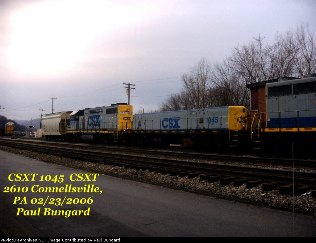 CSX 2610 GP38-2    CSXT 1045 Yard Slug   02/23/2006