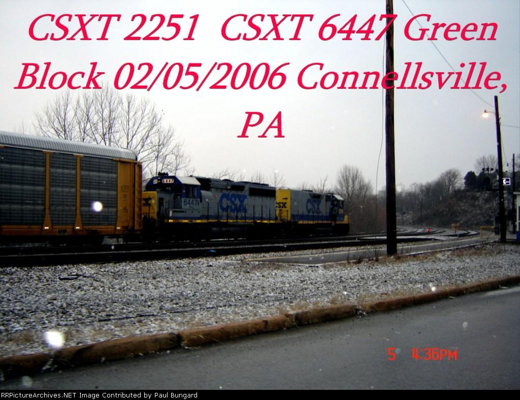 CSXT 2251  Road Slug  CSXT 6447  GP40-2    02/05/2006