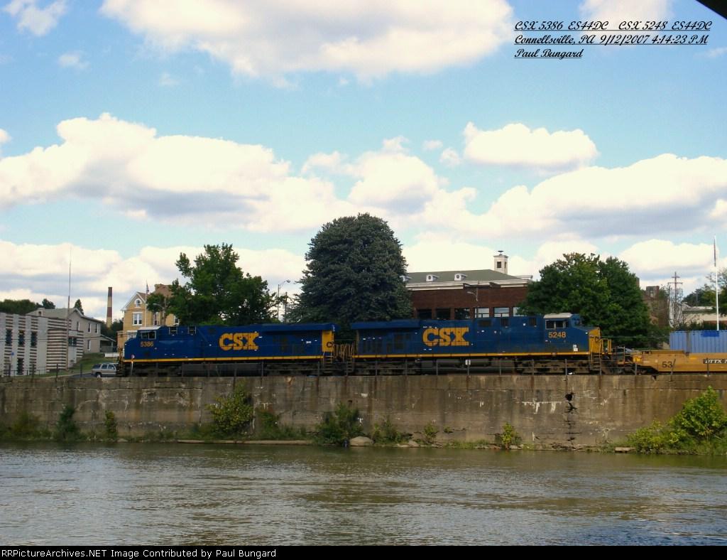 CSX 5386   ES44DC     CSX 5248  ES44DC   Sept 12, 2007