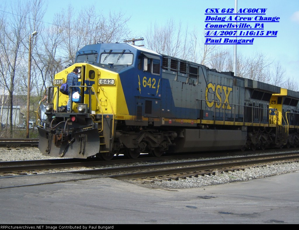 CSX 642  AC60CW  April 04, 2007