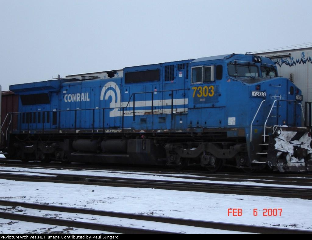 CSX 7303  Ex- CR 6055    C40-8W   Feb 06, 2007