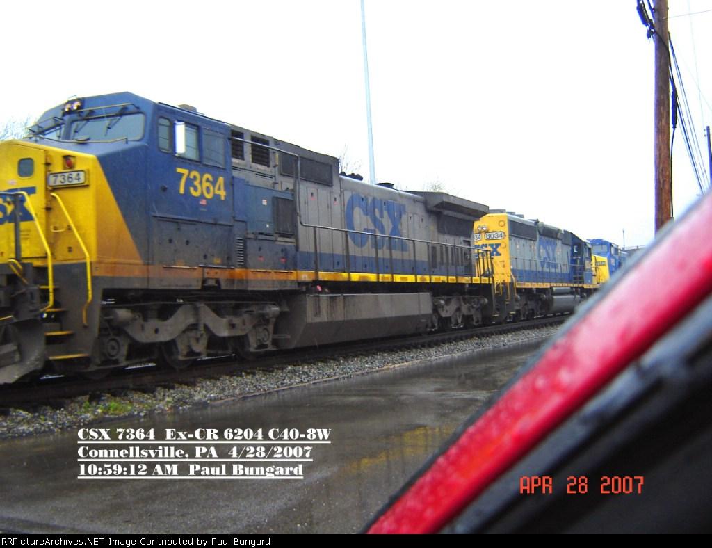 CSX 7364  Ex- CR 6204  C40-8W   April 28, 2007