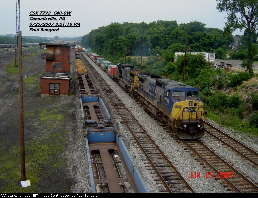 CSX 7793   C40-8W   June 25, 2007