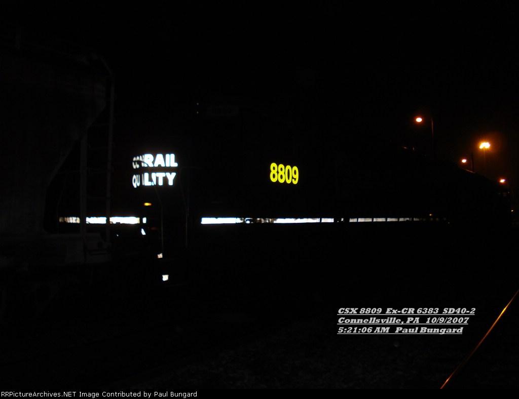 CSX 8809      SD40-2      Oct 9, 2007