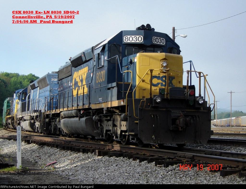 CSX 8030  Ex- LN 8030  SD40-2  May 19, 2007