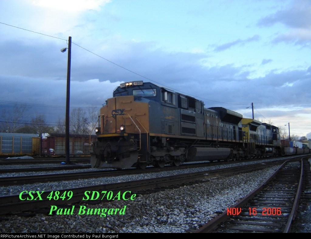 CSX 4849     SD70ACe     11/16/2006