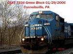 CSXT 7334   C40-8W  01/29/2006