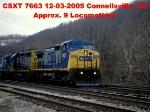 CSXT 7663     C40-8W   12-03-2005