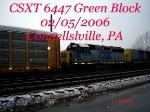CSXT 6447  GP40-2   02/05/2006