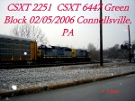 CSXT 2251  Road Slug  CSXT 6447  GP40-2    02/05/2006