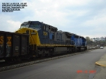 CSX 7321  Ex-CR 6100  C40-8W    CEFX 3135 Ex-SP 8948 SD40-2  April 23, 2007