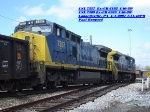 CSX 7357 Ex-CR 6192 C40-8W     CSX 7389 Ex-CR 6265 C40-8W  April 04, 2007