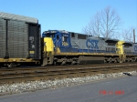 CSX 7626  C40-8   Feb 24, 2007