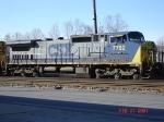 CSX 7782  C40-8W   Feb 24, 2007