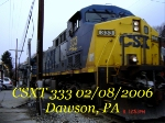 CSXT 333    AC44CW    02/08/2006