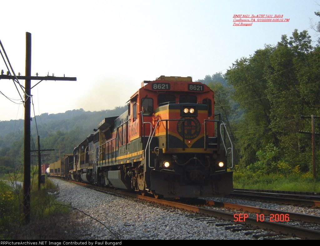 BNSF 8621  Ex-ATSF 7431 B40-8   9/10/2006