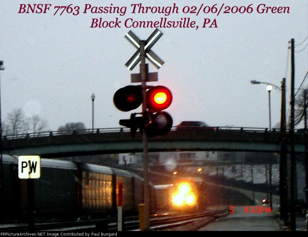 BNSF 7763  Just Passing Through