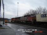 BNSF 857  Ex- ATSF  C40-8W  Jan 12, 2007