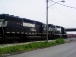 NS 5124 & NS 3446 leave off a coal car, then leave the yard with a few boxcars