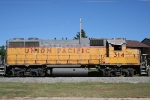 UP 314 an ex Missouri Pacific unit on its old home rails
