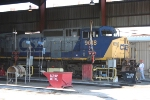 CSX 9018 gets serviced far from home