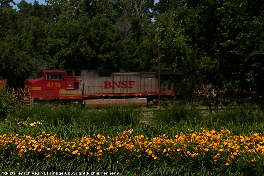 """BNSF """"Warbonnet"""" C44-9W 4719 is the second unit on this eastbound"""