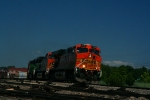 BNSF ES44DC 7732 and C44-9W 4031 lead an eastbound.