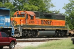 BNSF 2086 on SB empty pipe train